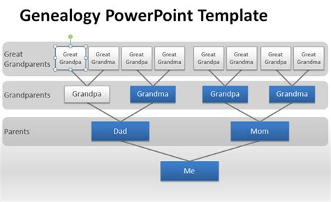 How To Make A Genealogy Powerpoint Presentation Using Shapes Genogram Template Powerpoint