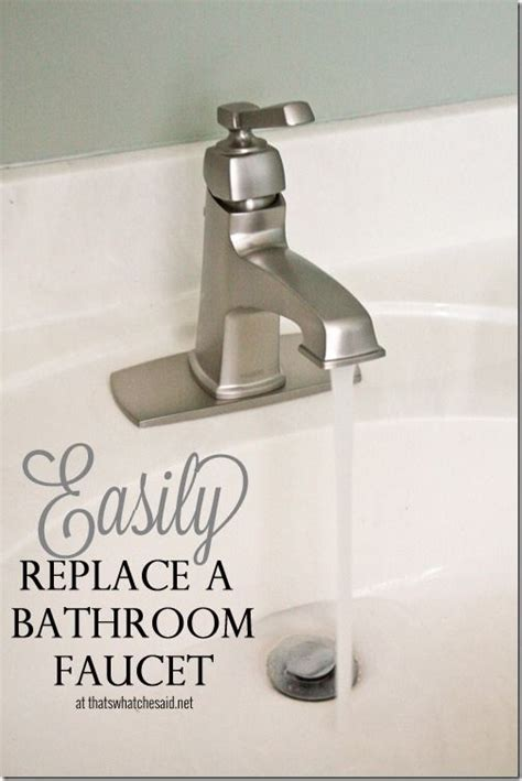 diy replace kitchen faucet easily replace a bathroom faucet with this helpful