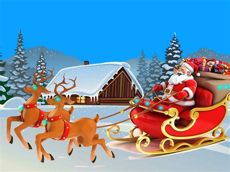 happy  year christmas card santa claus  lapland  ultra hd desktop wallpapers