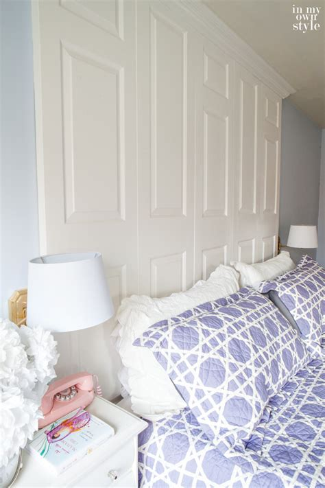 How To Paint Bedroom Walls How To Make A Bed Headboard With Old Doors In My Own Style