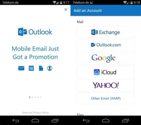 how to set up outlook on android how to set up email in the outlook for android app