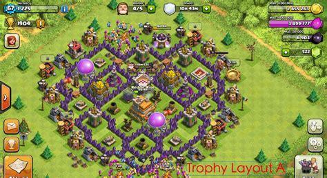 layout pertahanan coc th 4 base coc th 7 terbaik terkuat untuk war dan farming tahun