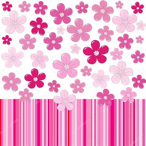 estado con fondo rosa fondo rosa con flores y rayas vector de stock