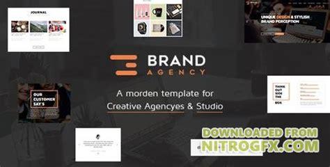 themeforest html bootstrap themeforest brand agency v1 1 one page html bootstrap