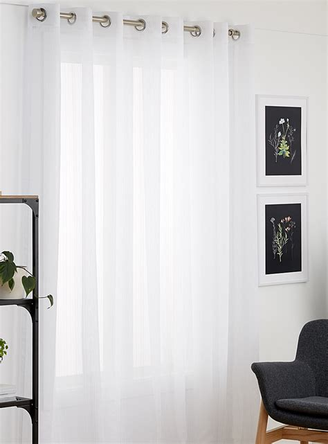 120 sheer curtains stitched stripe sheer curtain 120 quot x 95 quot simons shop