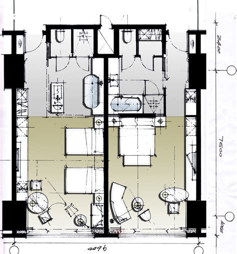 hotel room layout and design hotel plan architectural types pinterest dacei patiik
