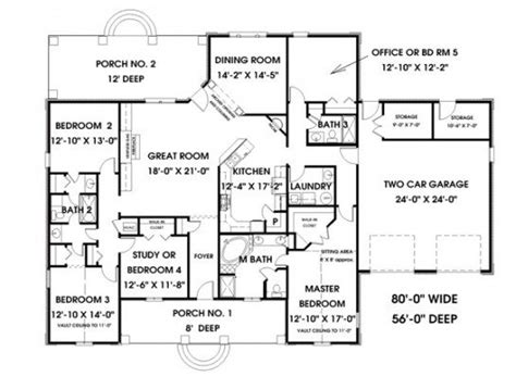 unique one story floor plans 5 bedroom 3 bath house plans unique one story 5 bedroom