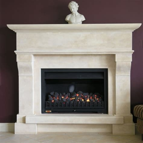 Provincial Fireplaces by Large Provincial Style Fireplace With Raised Hearth Carved In Oamaru Limestone With Aged