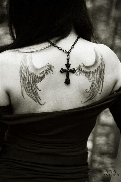 angel tattoos tumblr wings back www pixshark images
