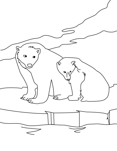 Printable Polar Bear Coloring Pages Coloring Me Polar Coloring Page