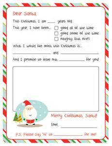 letter from santa template letter to santa free printable