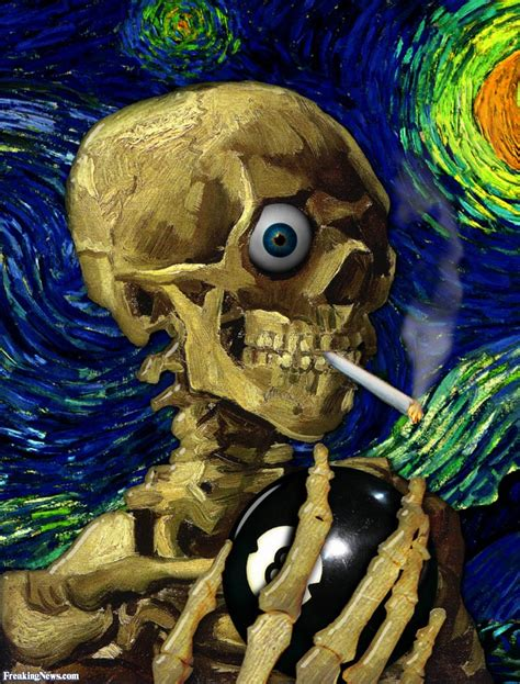 Painting G With A Twist by Skeleton By Gogh Pictures Freaking News