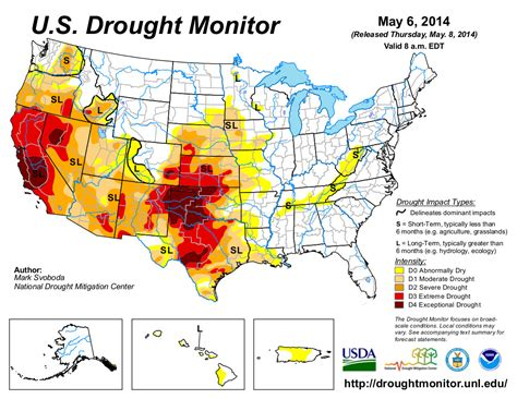 us drought map us drought monitor may 6 2014