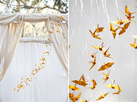 Origami Cranes For Wedding - origami wedding decor chic