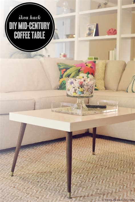 ikea lack coffee table hack ikea hack diy mid century modern coffee table triple