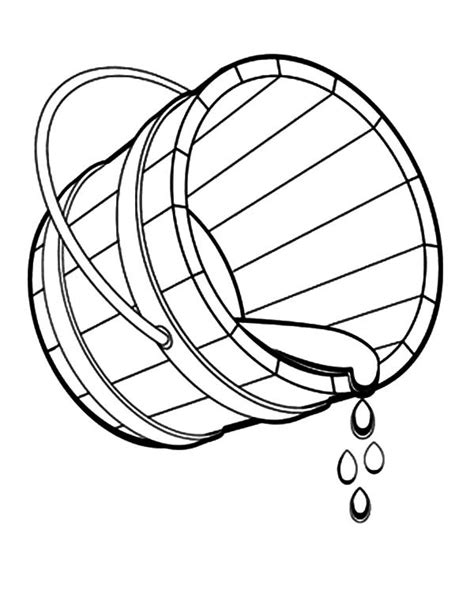 water bucket coloring page bucket spilling water coloring pages best place to color