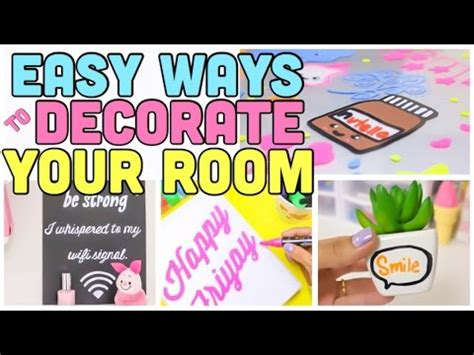 easy ways to decorate your room using simple items and