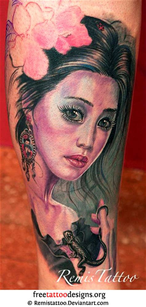 japanese face tattoo designs geisha tattoos