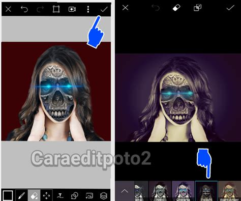 tutorial edit picsart terbaru cara edit foto cyborg effect di picsart android