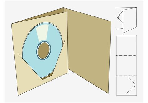 cd box template download free vector art stock graphics