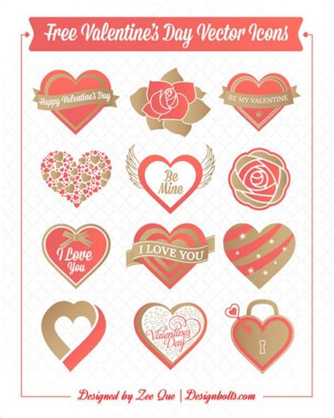 free valentines vectors valentines day hearts and roses vector free