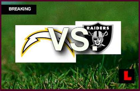 chargers today what time raiders vs chargers start time