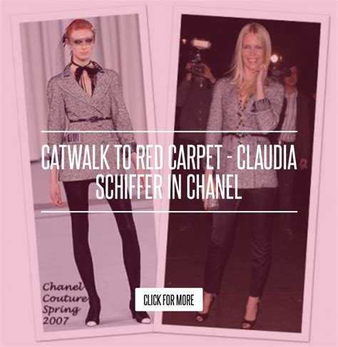 Catwalk To Carpet Schiffer In Chanel catwalk to carpet schiffer in chanel