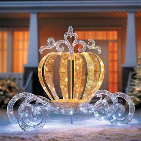home improvement christmas lights lighted princess carriage outdoor christmas decoration