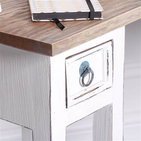 White Bedside Table With Wood Top Antique White Wooden Bedside Table By Dibor