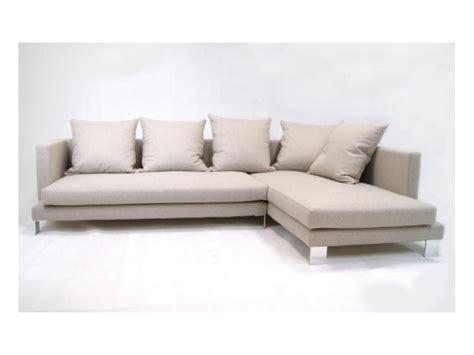divano pelle o tessuto divano karl con penisola in pelle o tessuto
