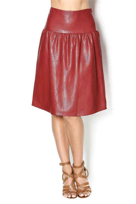 junee faux leather skirt from new jersey by covered