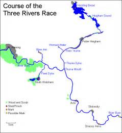 three rivers map the three rivers race