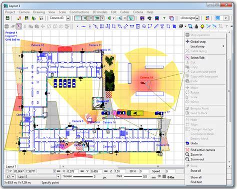 cctv layout design software cctv design software videocad