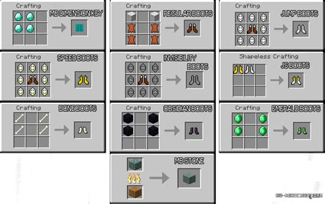 pixelmon running shoes crafting recipe скачать mo boots для minecraft 1 7 10