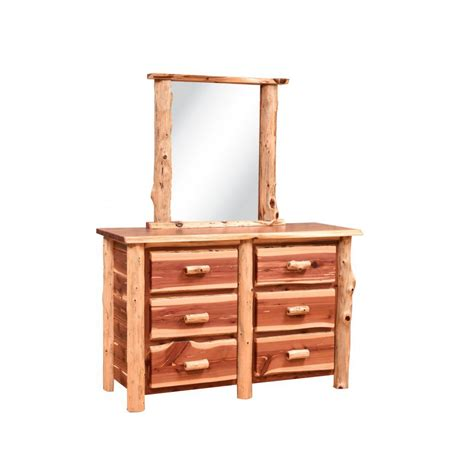 Cedar Dresser by Country Classic Collection Cedar Dresser With Mirror