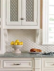 Basket weave tile kitchen traditional with backsplash