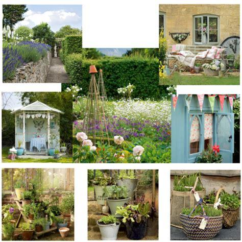 shabby chic cottage garden moodboards housetohomecouk