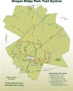 oregon ridge trail map oregon ridge park maplets