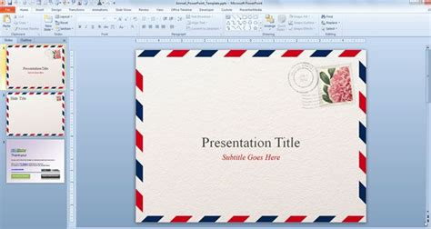Airmail Powerpoint Template Powerpoint Templates 2010 Free