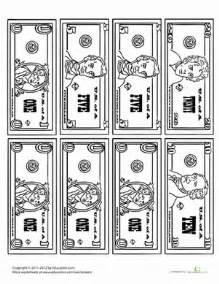Second grade math worksheets money coloring page