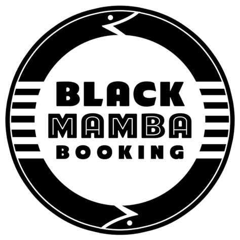 mjordan art  design black mamba booking logo