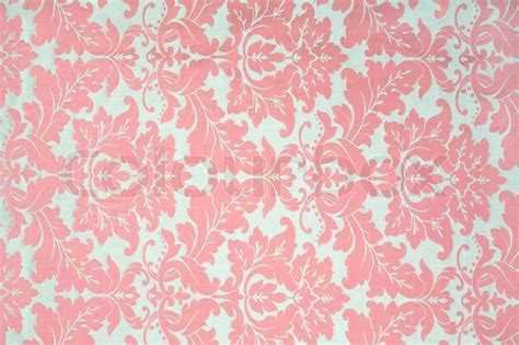 vintage pattern upholstery vintage pattern on fabric as a background stock photo