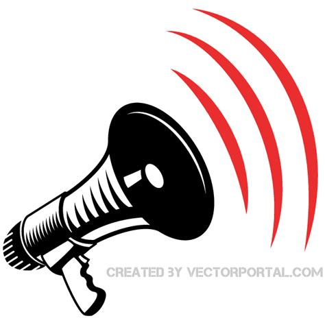 electric megaphone clipart   cliparts