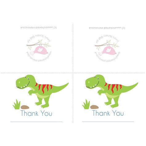 printable thank you cards uk free downloadable dinosaur party thank you card