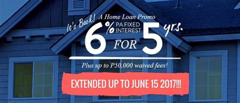 security bank s 6 for 5 home loan promo extended to june