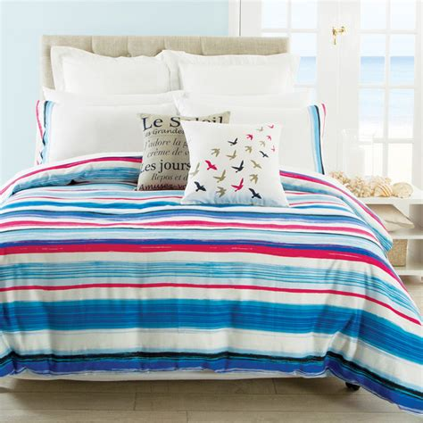 Style Quilt Covers by Painterly Stripe Quilt Cover Set Style Duvet