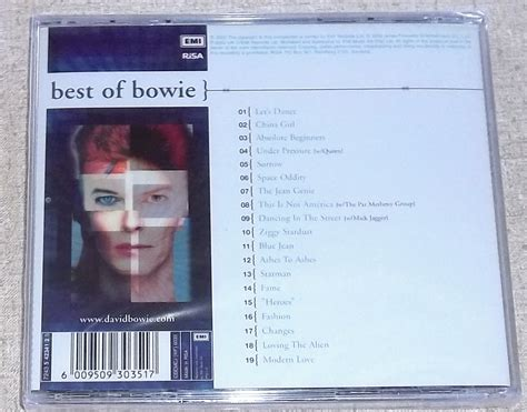 bowie best of david bowie best of bowie south africa cat cdemcj wf