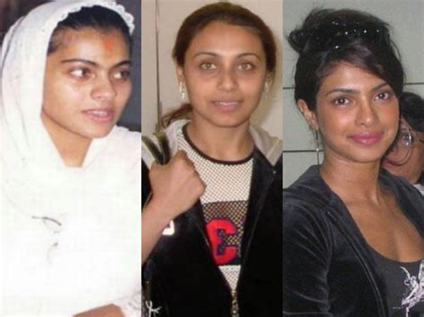 bollywood heroines with and without makeup 30 strange pictures of bollywood actresses without make up