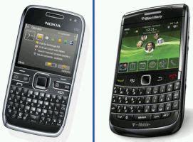 Hp Nokia Blackberry handphone bandingkan nokia e72 dan blackberry bold 9700 onyx