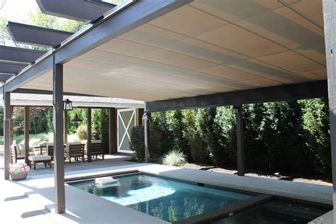Swimming Pool Awnings by Retractable Pool Cover Vancouver Shadefx Canopies